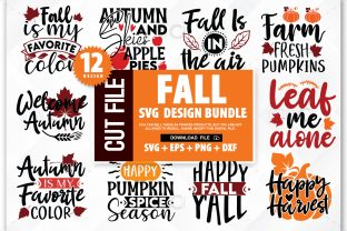 Print on Demand: Fall SVG Bundle,Autumn Svg Graphic Crafts By PrintableSvg