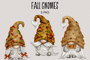 Print on Demand: Fall Watercolor Gnome Clipart Graphic Illustrations By Celebrately Graphics