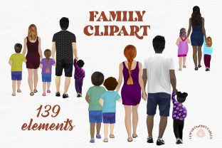 Family Clipart - Family Illustration Graphic Illustrations By clipartsNprintables