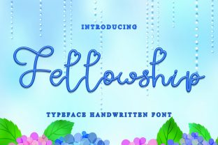 Print on Demand: Fellowship Script & Handwritten Font By dazzlinggleam