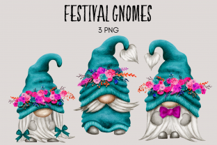 Print on Demand: Festival Gnome Clipart Grafik Illustrationen von Celebrately Graphics
