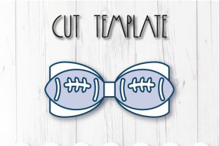 Football Bow Template Graphic 3D SVG By ArtiCuties 2