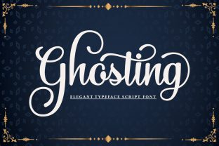 Print on Demand: Ghosting Script & Handwritten Font By studiorhd