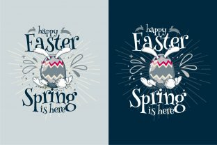 Happy Easter ! Easter Egg Spring is Here Graphic Illustrations By onoborgol