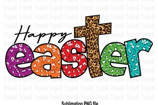 Print on Demand: Happy Easter Sweet Leopard Sublimation Graphic Illustrations By TripleBcraft