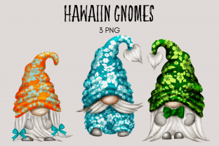 Print on Demand: Hawaiin Gnome Clipart Graphic Illustrations By Celebrately Graphics