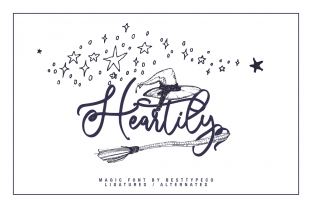 Print on Demand: Heartily Script & Handwritten Font By besttypeco