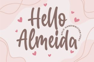 Print on Demand: Hello Almeida Script & Handwritten Font By Blankids Studio