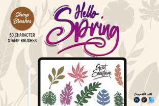 Hello Spring | Stamp Brushes Graphic Brushes By Gumacreative