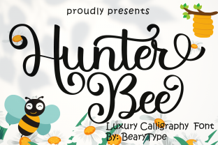 Print on Demand: Hunter Bee Script & Handwritten Font By LetterBeary