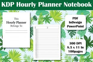 Print on Demand: KDP Hourly Planner Notebook Interior Graphic KDP Interiors By Ivana Prue