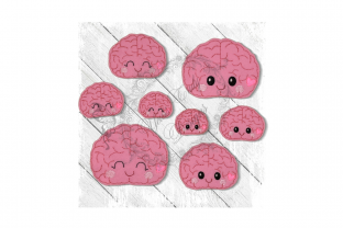Kawaii Organ Brain Accessories Embroidery Design By Yours Truly Designs