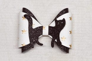 Kitty Bow Template Graphic 3D SVG By ArtiCuties