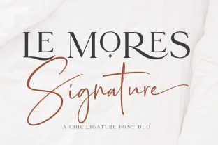 Print on Demand: Le Mores Signature Script & Handwritten Font By Great Studio