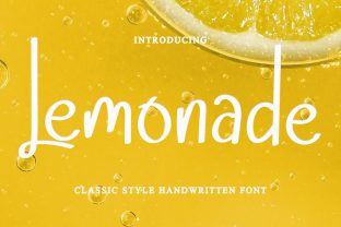 Print on Demand: Lemonade Manuscrita Fuente Por dazzlinggleam