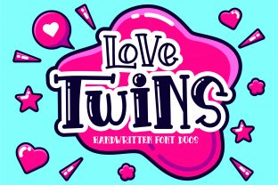 Print on Demand: Love Twins Display Font By Cikareotype