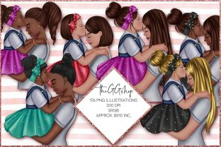 Print on Demand: Mommy & Daughter Mother's Day Set Graphic Illustrations By TheGGShop