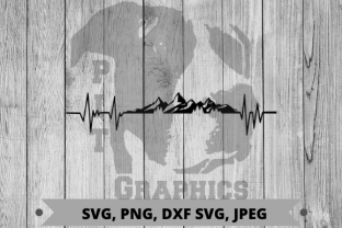Mountain Heartbeat Svg Graphic Crafts By Pit Graphics