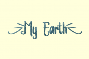 Print on Demand: My Earth Awareness Embroidery Design By setiyadissi