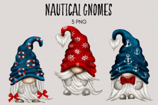 Print on Demand: Nautical Gnome Clipart Graphic Illustrations By Celebrately Graphics