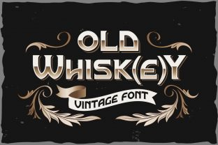 Print on Demand: Old Whisk(e)y Display Font By Fractal font factory