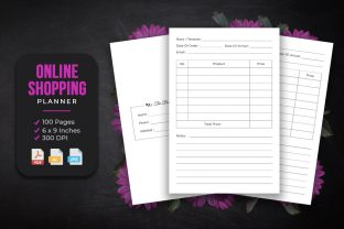 Online Shopping Log Book KDP Interior Graphic KDP Interiors By srsadi123