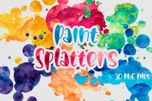 Print on Demand: Paint Splatters | Sublimation Background Graphic Backgrounds By oldmarketdesigns