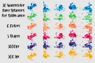 Print on Demand: Paint Splatters | Sublimation Background Graphic Backgrounds By oldmarketdesigns 2