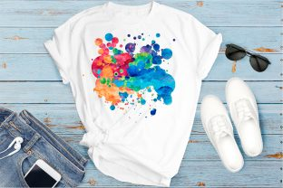 Print on Demand: Paint Splatters | Sublimation Background Graphic Backgrounds By oldmarketdesigns 3