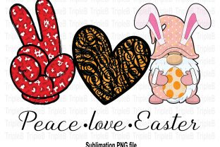 Print on Demand: Peace Love Easter Sublimation Designs Graphic Illustrations By TripleBcraft