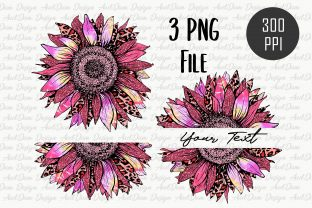 Pink Tie Dye Sunflower Sublimation Graphic Crafts By AudDum Design