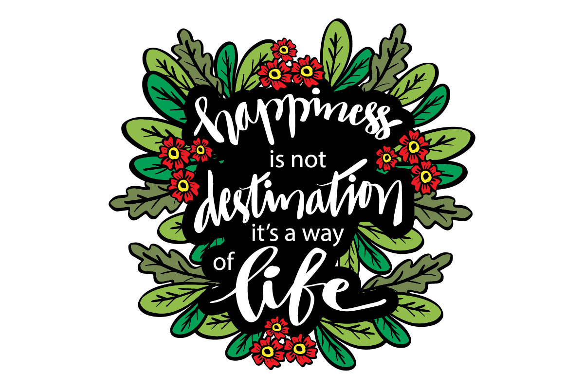 Quotes Abut Happiness SVG File