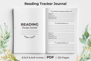 Print on Demand: Reading Tracker Journal KDP Interior Graphic KDP Interiors By KdpKing