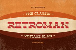 Print on Demand: Retroman Slab Serif Font By almarkhatype