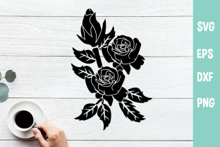 Rose Flowers SVG / PNG Graphic Crafts By Chamsae Studio