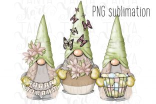Spring Gnomes Graphic Illustrations By Tanya Kart