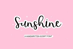 Print on Demand: Sunshine Script & Handwritten Font By FontCastle