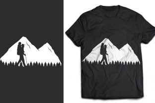 T-Shirt Mountains and Mountaineer Graphic Print Templates By naemislamcmt