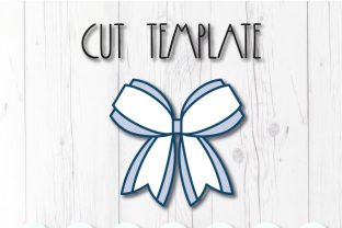 Tails Bow Template Graphic 3D SVG By ArtiCuties 2