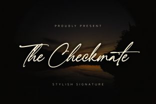 Print on Demand: The Checkmate Script & Handwritten Font By almarkhatype