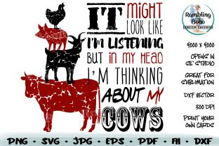 Print on Demand: Thinking About My Cows Graphic Illustrations By RamblingBoho