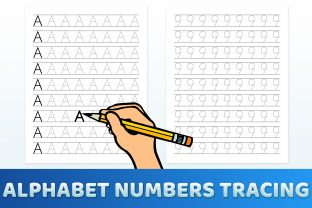 Print on Demand: Tracing Letters and Numbers Worksheets Graphic Teaching Materials By medelwardi