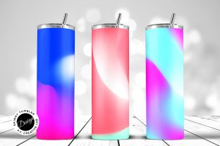 Print on Demand: Tumbler Sublimation Abstract Gradients Graphic Crafts By DTCreativeLab