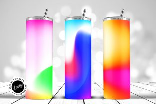 Print on Demand: Tumbler Sublimation Vibrant Gradients Graphic Crafts By DTCreativeLab