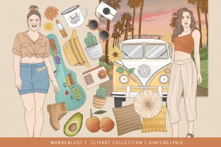 Wanderlust Road Trip Planner Clipart Graphic Illustrations By SincerelyNix