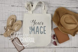 White Canvas Summer Tote Bag Mockup Graphic Product Mockups By Mockup Central