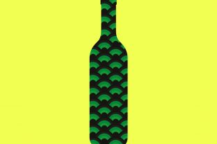 Print on Demand: Wine Bottle Shamrock Sublimation Graphic Print Templates By expressyourself82