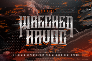 Print on Demand: Wrecked Havoc Blackletter Font By febryan.satria1