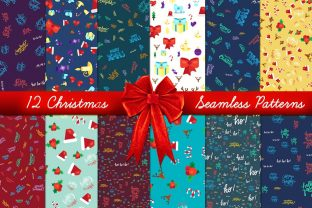 Print on Demand: Xmas Seamless Patterns Set Graphic Illustrations By barsrsind