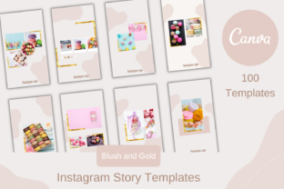 Print on Demand: 100 Canva Instagram Story Templates Graphic Graphic Templates By Andreea Eremia Design